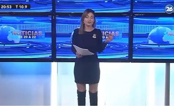 Noelia Novillo, conductora de Canal 26, de Argentina.