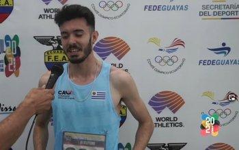 Catrofe entrevistado por la transmisión oficial del Sudamericano