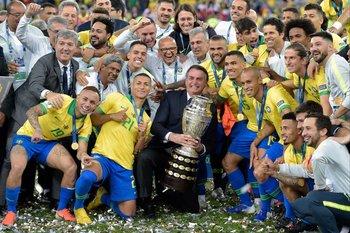 Foto de archivo, Copa América 2019. Bolsonaro hizo el anuncio la tarde de este martes