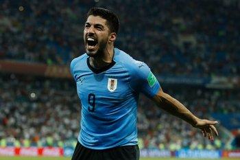 Suárez celebra uno de sus goles