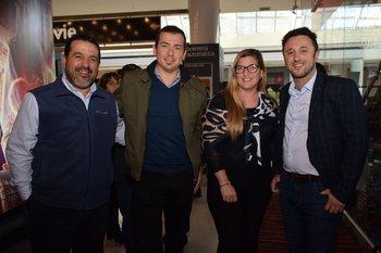 Javier Rodríguez, Mariano Quijada, Andrea Osores y Diego Candelone