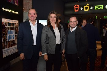 Nelson Coira, Alejandra Pradere y Horacio Urrutia