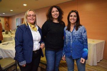 Delia Moreira, Alejandra Silva y Particia Berrutti