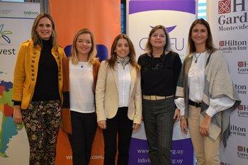 Florencia Scheitler, Agostina Legnani, Virginia Geninazzi, Andrea Bellolio y Ana Inés Maranges