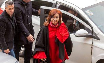 Cristina Fernández arribando a la corte de Retiro en 2019