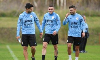 Suárez, Jonathan Rodríguez y De Arrascaeta