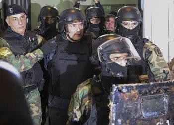 José López durante su detención