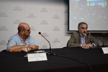 Los doctores Carlos Fuellis y Eduardo Barre.