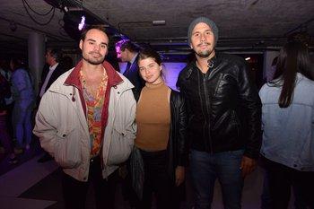 Diego Campomar, Martina Perazzo y Javier Fernández