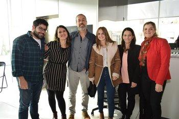 Martin Lameiro, Serrana Diaz, Pablo Rosa, Belen Suero, Claudia Fernández y Natalia Andreoni