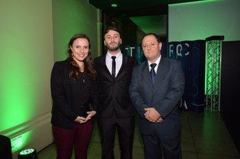 Carla Giuliano, Enzo Tejera y Victor Occhiuzzi