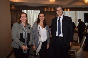 Valeria Borrazas, Marcela Testorelli y Alejandro Cavallo