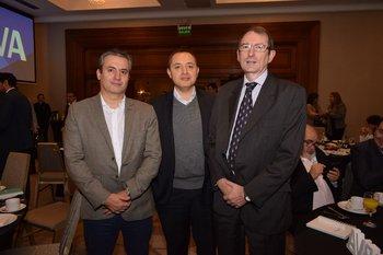 Diego Villalba, Gregorio Molano y Alejandro Vinetz