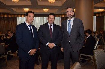 Miguel Sedano, Pablo Pesce y Alberto Charro