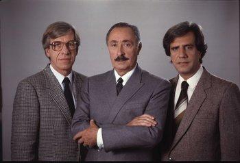 Danilo Astori, Líber Seregni y Tabaré Vázquez en 1994: un trío decisivo en el éxito político de la izquierda uruguaya