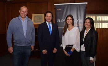 Fernándo Auersperg, Ignacio Munyo, Ana Inés Maranges y Silvia Gularte