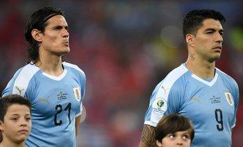 Cavani y Suárez en la Copa América de 2019