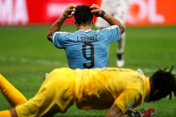 Luis Suárez contra Perú en Brasil 2019