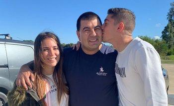 Mina Bonino, Edgardo Lasalvia y Federico Valverde antes de la Copa América 2019