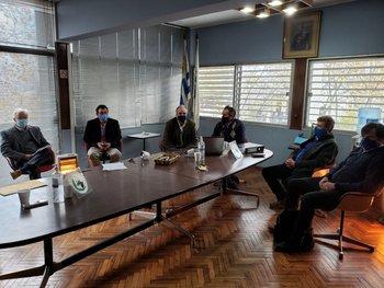 Directivos de la ANPL recibieron a Álvaro Lapido en la sede de la gremial.