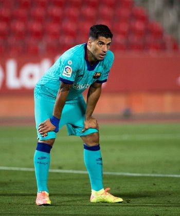 Suárez otra vez en las canchas tras su lesión de rodilla