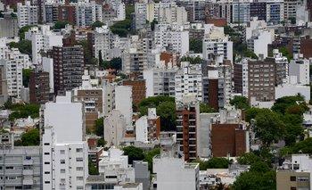 Vista aérea de Montevideo.