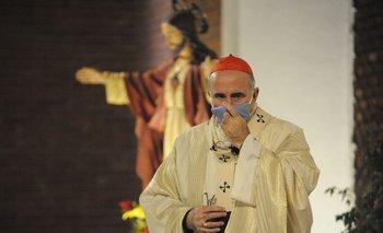 El Cardenal Sturla en una celebración con los protocolos sanitarios.