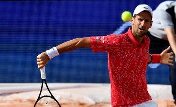 Djokovic en el torneo de exhibición que organizó