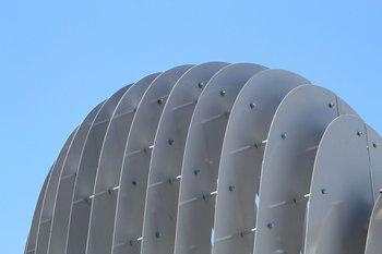 El proyecto de la cúpula permanente estuvo a cargo del arquitecto Federico Lagomarsino