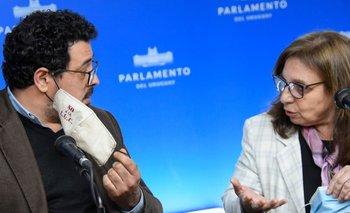 Los diputados Alejandro Sánchez y Ana Olivera recharazon las medidas propuestas en la ley