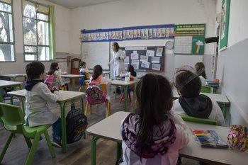 Reinicio de clases de primaria en casi todas las escuelas del país, en 2020.
