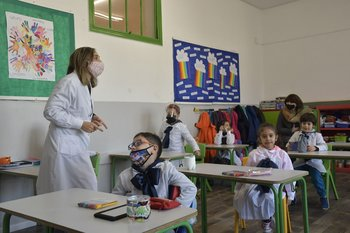 Salón de clases de una escuela pública