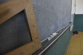 Pizarrón de un salón de clases.