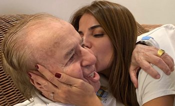 El expresidente argentino Carlos Menem junto a su hija Zulema
