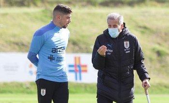 Federico Valverde y Óscar Tabárez en el Complejo Celeste
