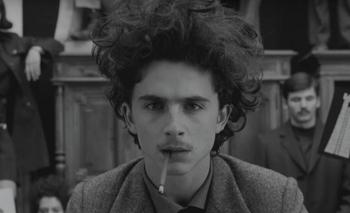Timothée Chalamet en The French Dispatch, de Wes Anderson