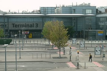 El aeropuerto de Heathrow, vacío