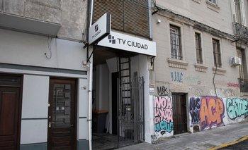 Sede de TV Ciudad sobre la calle Barrios Amorín