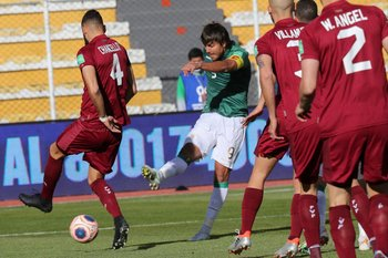 Marcelo Moreno Martins abre el marcador para Bolivia ante Venezuela