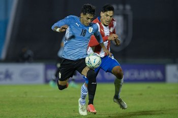 Facundo Torres, en pocos minutos, fue de lo mejor de Uruguay