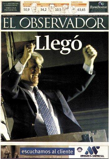 2004 fue un año histórico para Uruguay por la llegada de la izquierda al poder