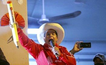 El candidato izquierdista Pedro Castillo se impuso en la primera vuelta de las elecciones y llega como favorito al balotaje en Perú