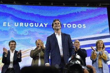Luis Lacalle Pou gana las elecciones nacionales, el 24 de noviembre de 2019.
