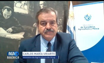 El ministro de Ganadería, durante la entrevista.