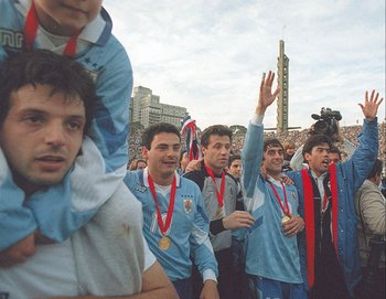 Uruguay, campeón de la Copa América en 1995