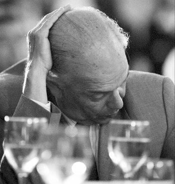 Jorge Batlle en medio de la crisis. 2002