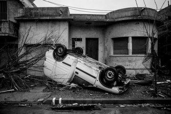 Un tornado sacude la ciudad de Dolores. 2016