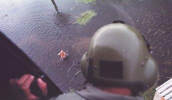 El departamento de Rocha afectado por las inundaciones que azotaron a gran parte del país, en 2002.