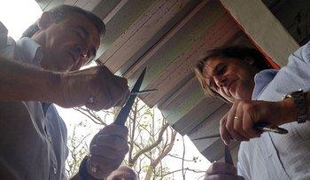 Jorge Larrañaga y Luis Lacalle Pou afilan sus cuchillos, en 2014.