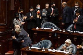 Mujica y Sanguinetti renuncian a sus bancas, el 20 de octubre de 2020.